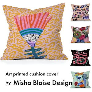 アートプリントクッションカバー  by Misha Blaise Design【受注生産品: 11月中旬頃入荷分 オーダー受付中】