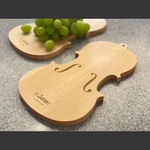 バイオリン職人が製作したカッティングボード
