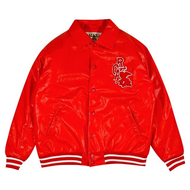 【GRAF】エコレザージャケット RED