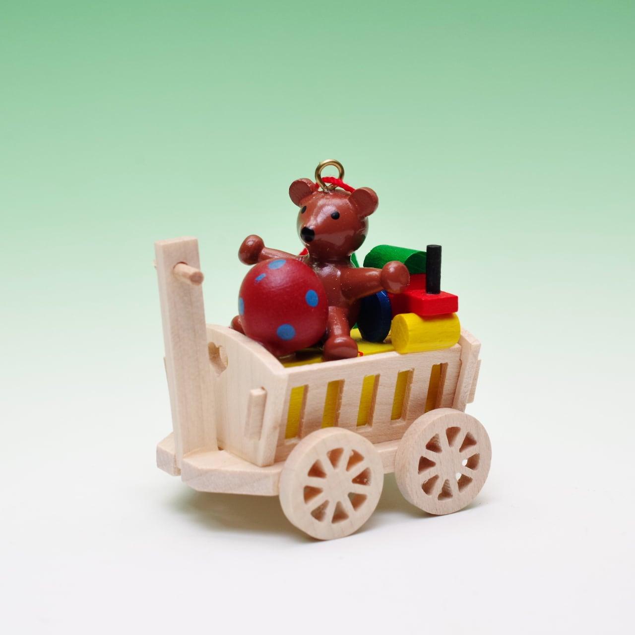 オーナメント おもちゃの荷車 テディ