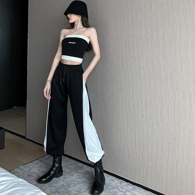 【セットアップ】「単品注文」ファッションノースリーブボートネックプルオーバーキャミソール+パンツ42916162