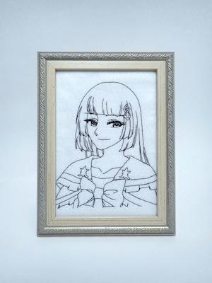 キャラ縫い額装刺繍 王女シャッフル「国民のあこがれ」