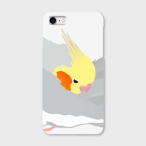 iPhoneケースもふもふオカメインコ ノーマル男の子【各機種対応】