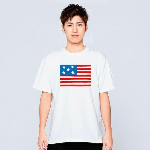 星条旗 Tシャツ メンズ レディース 半袖 アメカジ ゆったり おしゃれ トップス 白 30代 40代 ペアルック プレゼント 大きいサイズ 綿100% 160 S M L XL