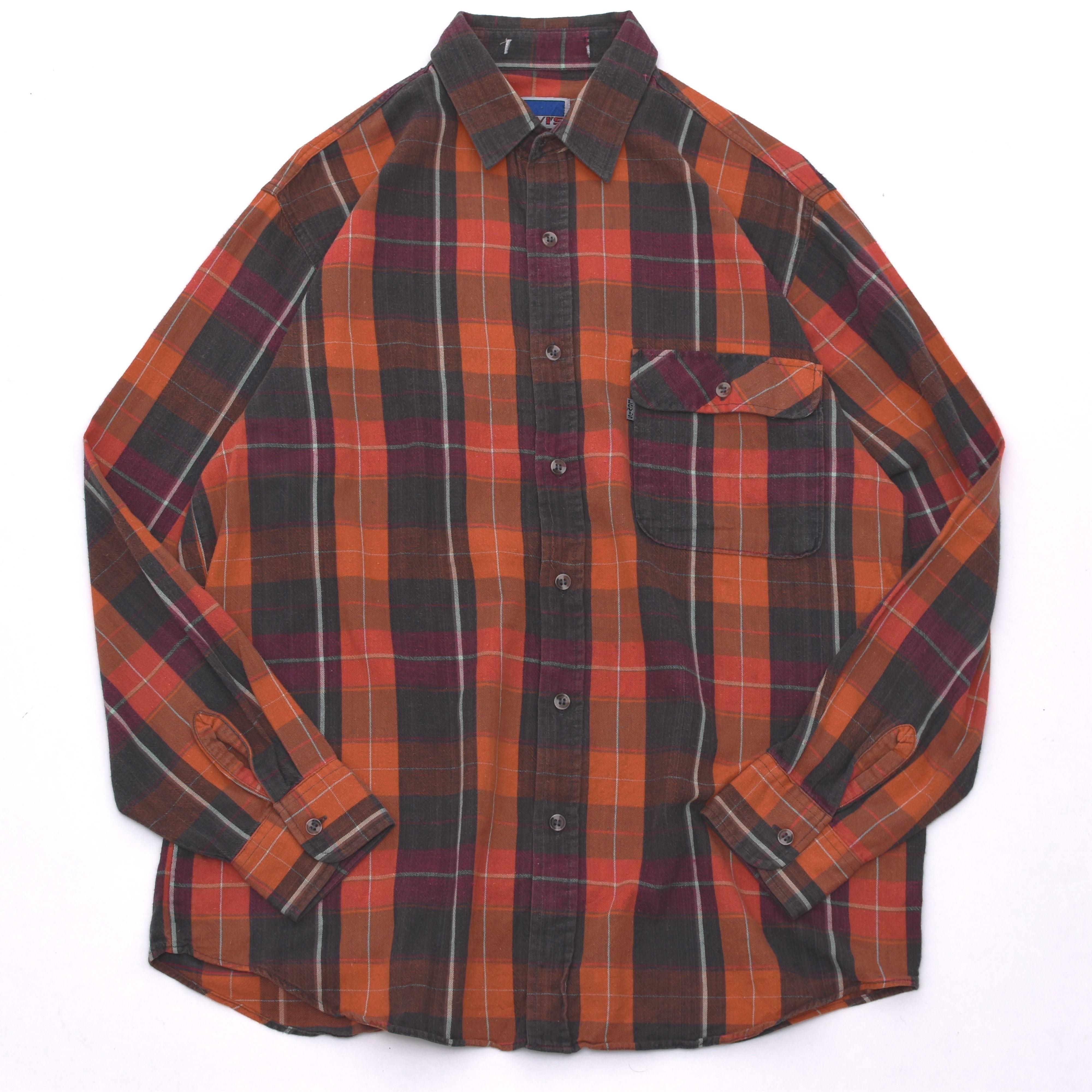 vintage Levi's cotton check shirt
