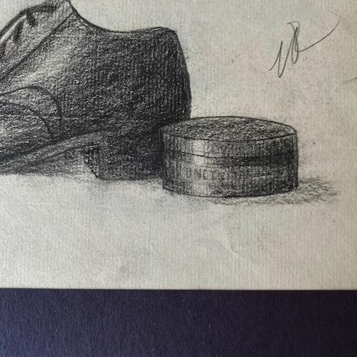 France デッサン ・靴とクリーム /  vp0257