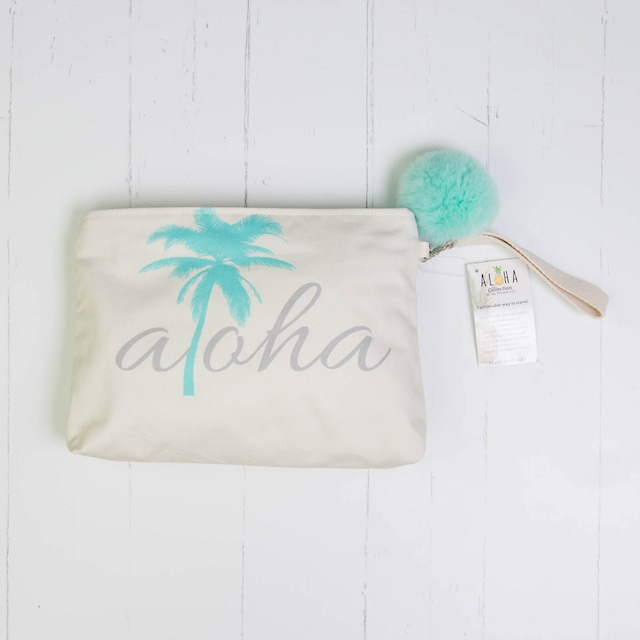 クラッチバッグ(防水裏地付き) Aloha Tiffany Palm Tree