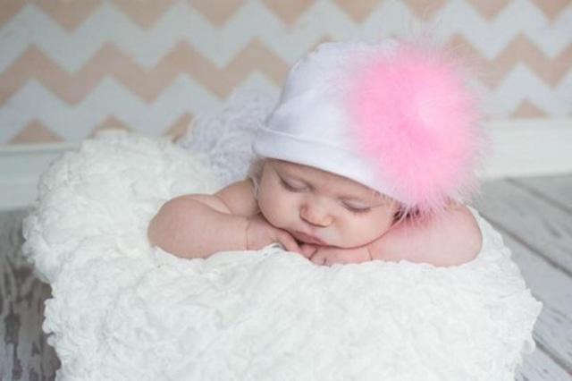 922【JamieRaeHats ジェイミーレイハット】ホワイト/ピンク ファー USAサイズ4歳~6歳
