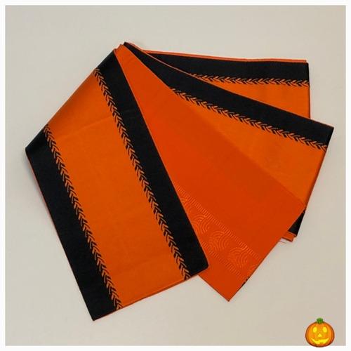 ★ 半巾帯 ハロウィン オレンジ 両面 ★縁ちゃぶ 3197