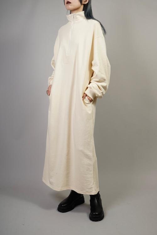 HARF ZIP SWEAT DRESS (BEIGE) 2110-42-14