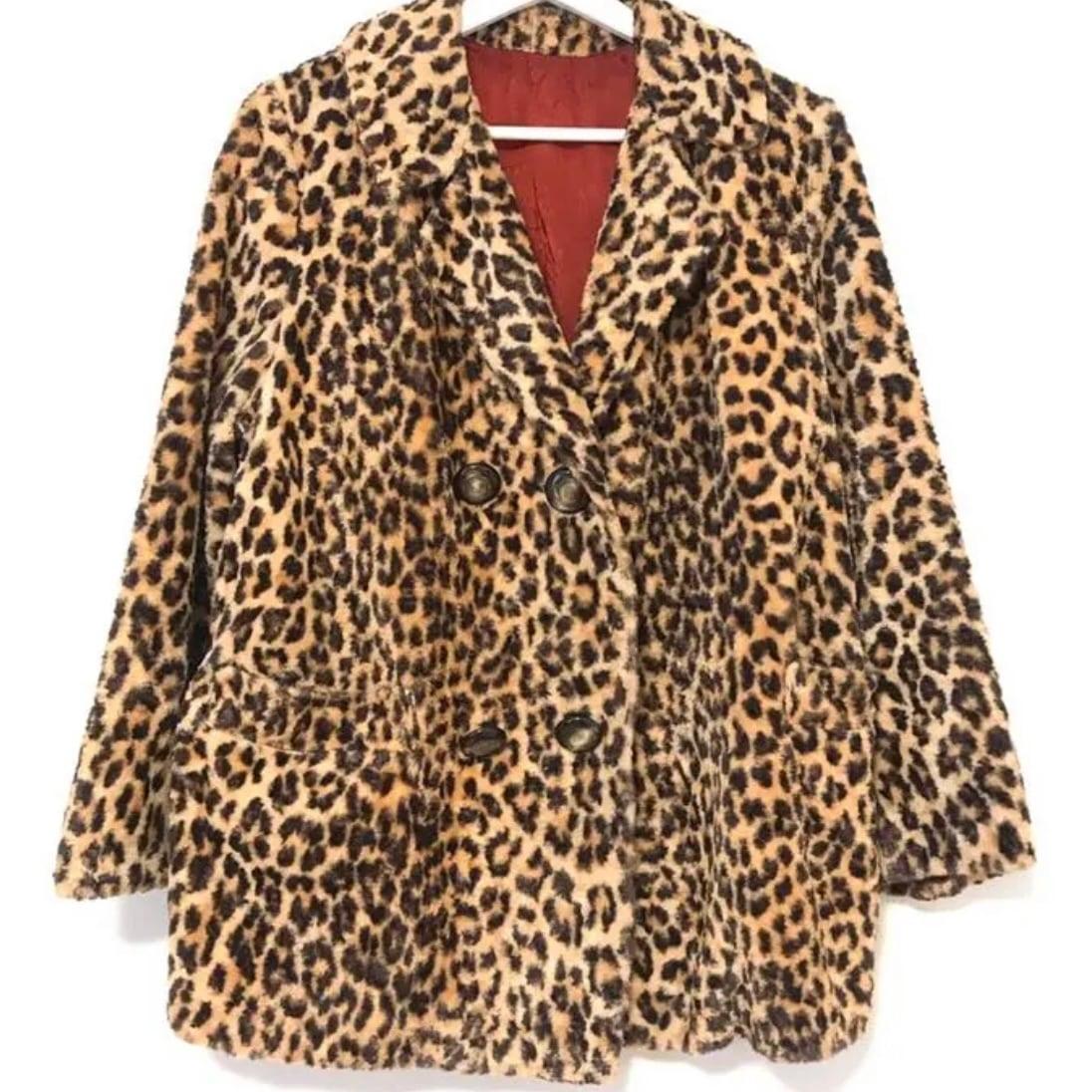 K様専用 70's Fake Fur Leopard Jacket