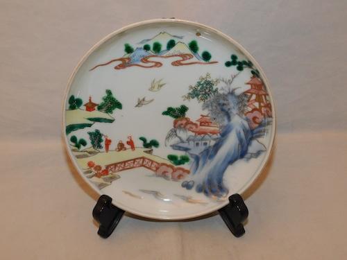 伊万里色絵五寸皿(1枚) Imari collard porcelain one plate(landscape)