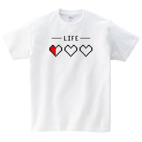 ライフゲージ ゲーム Tシャツ おもしろ メンズ レディース 半袖 写真 ゆったり ドラクエ トップス 白 30代 40代 ペアルック プレゼント 大きいサイズ 綿100% 160 S M L XL