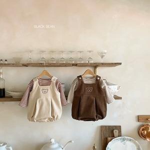 くまさんロンパース(ボーダートップス付き)・韓国子供服・