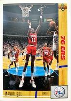 NBAカード 91-92UPPERDECK Manute Bol #178 76ERS