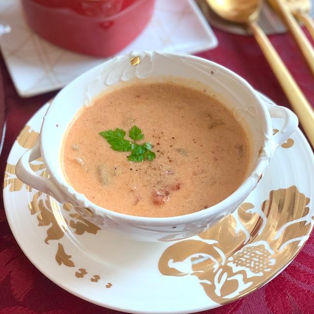 海老の豆乳トマトクリームシチュー