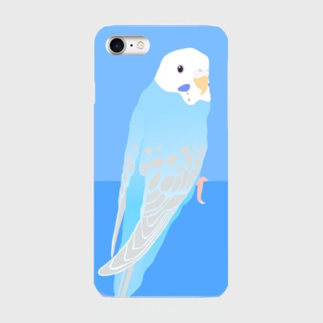 iPhoneケース セキセイインコ ブルーパイド【各機種対応】