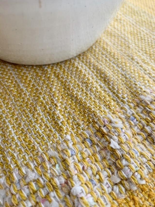 手織りランチョンマット「Yellow Mix」 Vol.4
