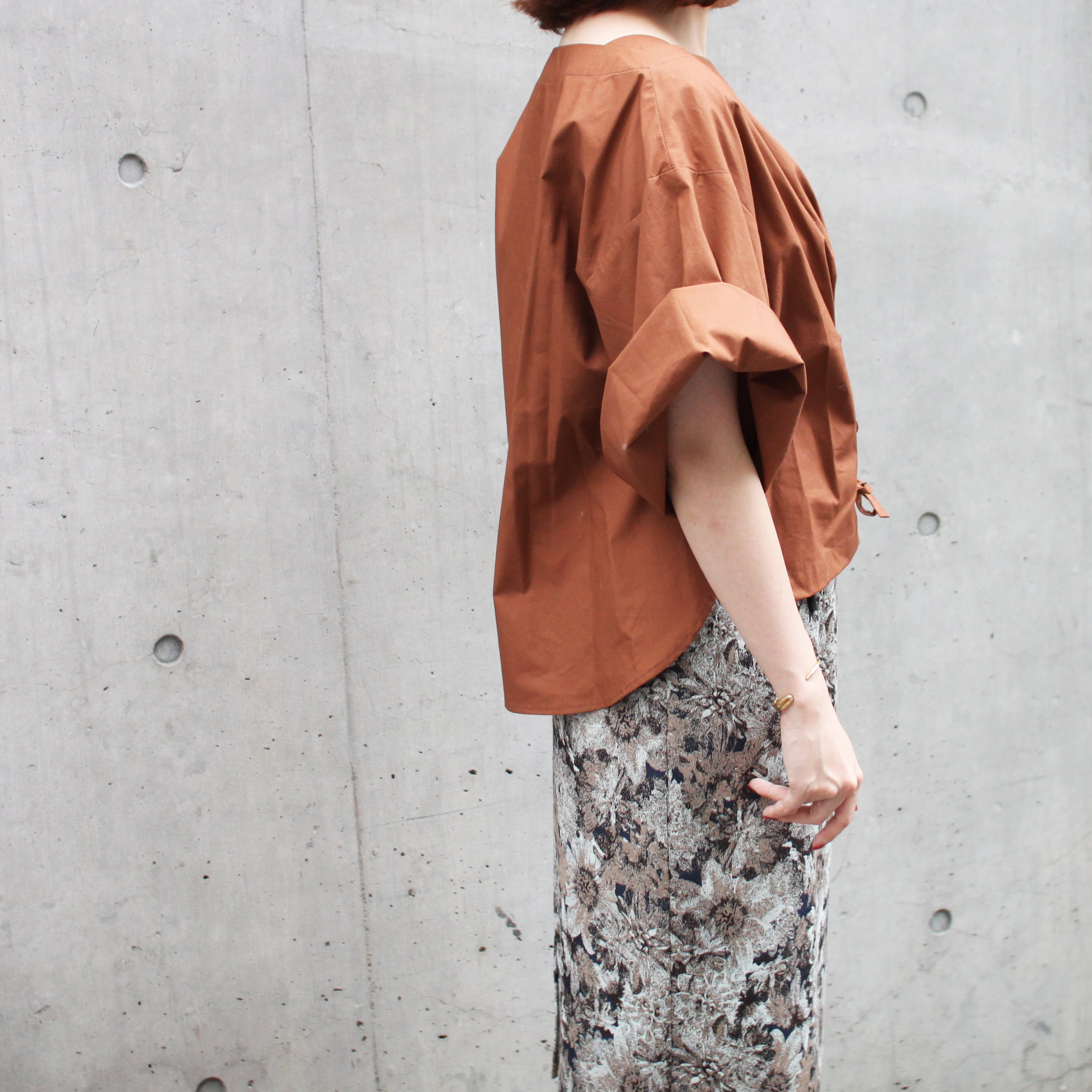 T/Rゴブラン花柄JQ・タイトSK