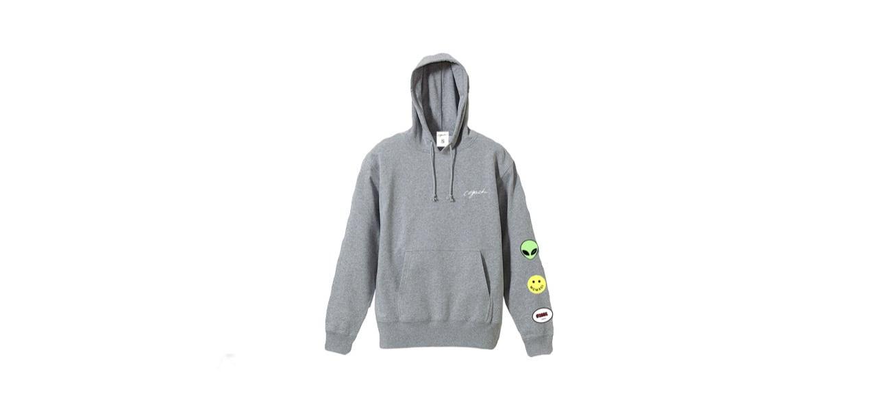 coguchi happy graphic hoodie (GRY)