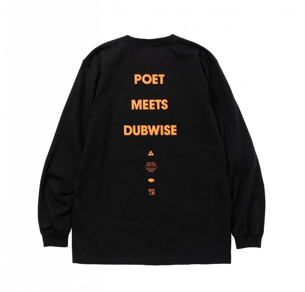 POET MEETS DUBWISE / LONG SLEEVE LOGO TEE