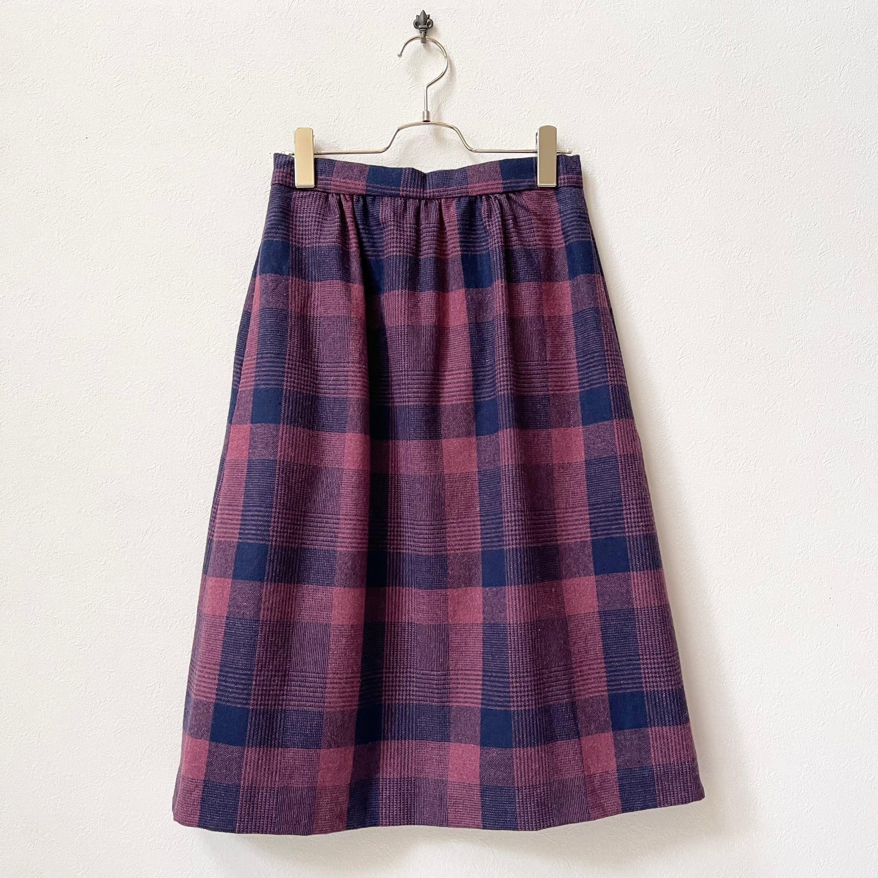 レディース アメリカ古着 チェック柄 スカート 日本M