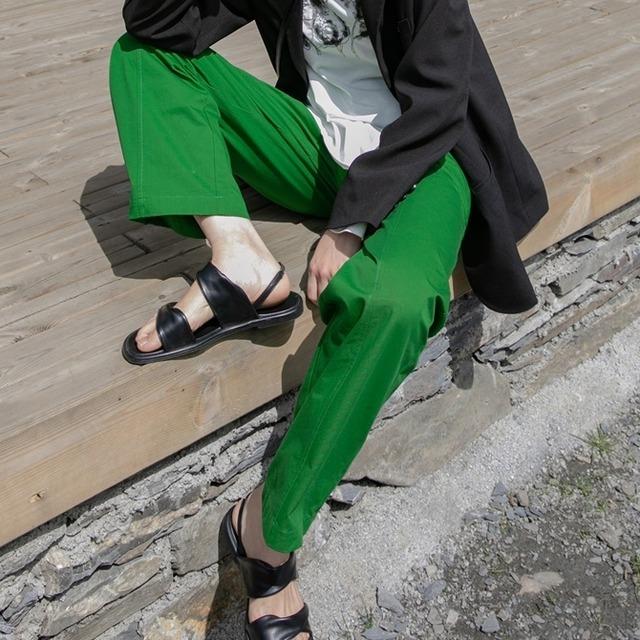 Casual wide cotton pants(カジュアルワイドコットンパンツ)b-407