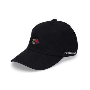 14573000【FRUIT OF THE LOOM/フルーツオブザルーム】LINEN LOGO EMB LOW CAP/刺繍ロゴローキャップ