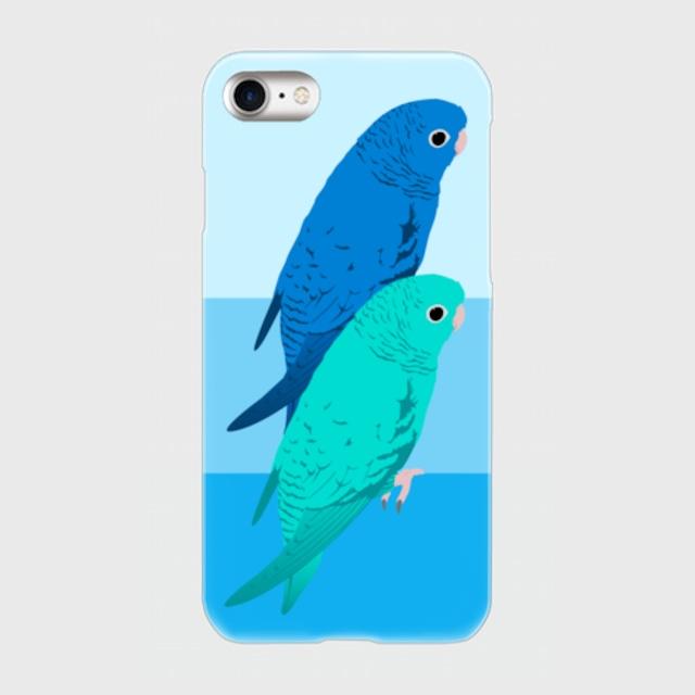 iPhoneケース サザナミインコ コバルト&ブルー【各機種対応】