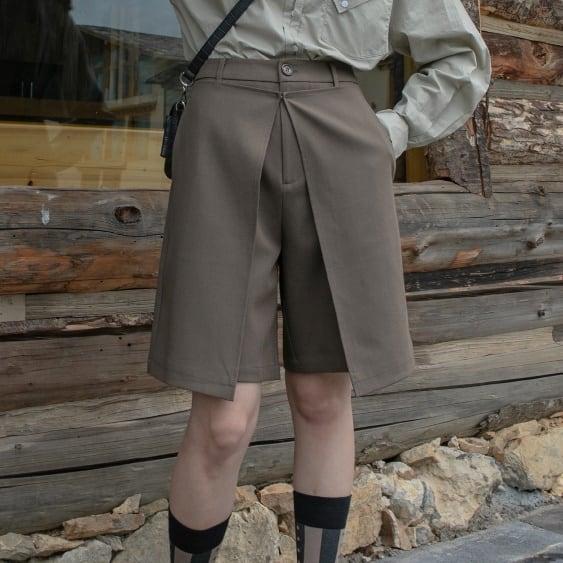 Layered half pants(レイヤードハーフパンツ)b-492