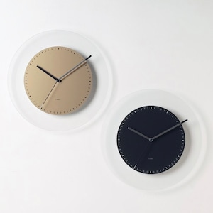 LINAR wall clock 2colors / ウォールクロック 壁掛け時計 ガラス 韓国 インテリア 雑貨