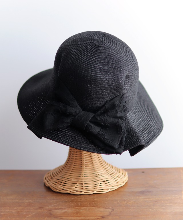UV紫外線防止加工・ジャカートリボンの帽子(HUT04)