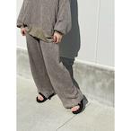 【RehersalL】ramie knit pants (olive)/【リハーズオール】ラミーニットパンツ(olive )