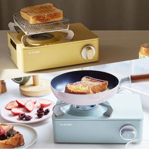 Dr. hows twinkle mini stove / パステルカラー ミニ 卓上 カセット ガスコンロ 韓国雑貨