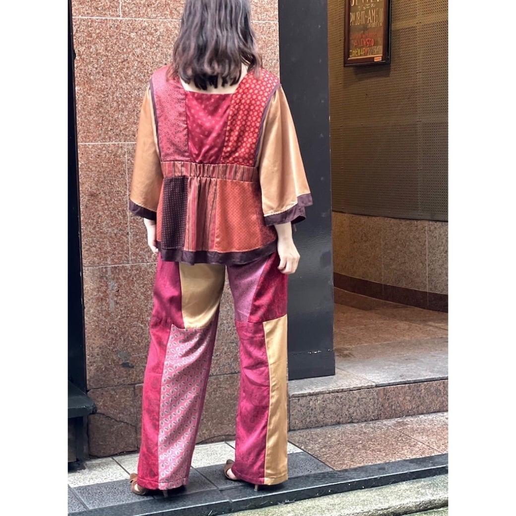 【RehersalL】 pajamas patch pants(sunset) /【リハーズオール】パジャマパッチパンツ(サンセット)