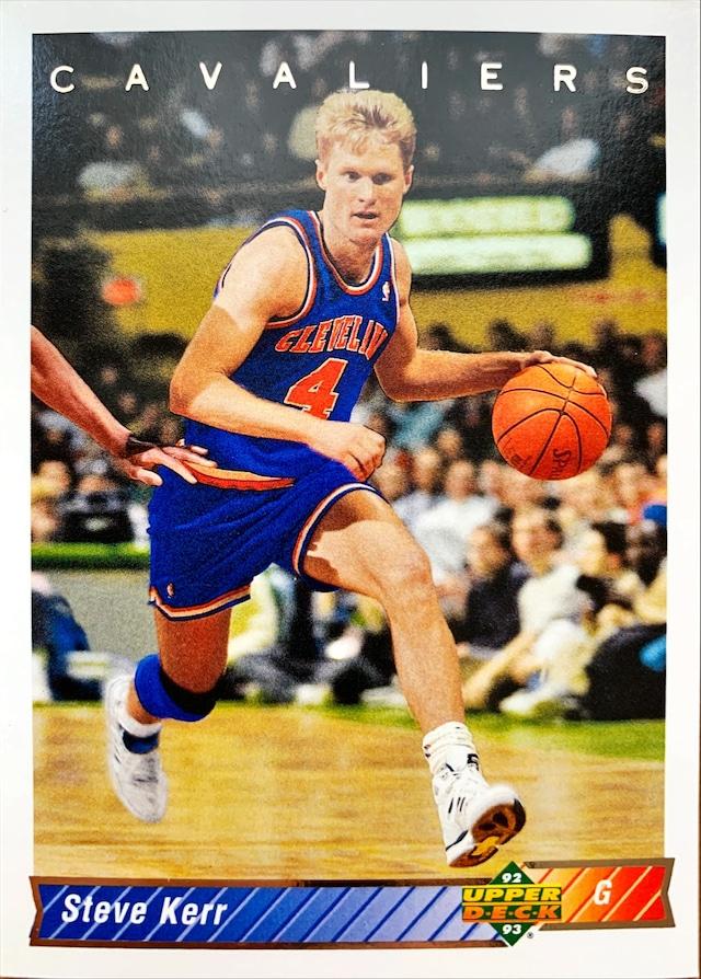 NBAカード 92-93UPPERDECK Steve Kerr #304 CAVALIERS