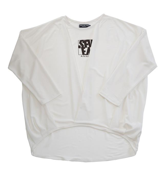 drape Long sleeves tops ホワイト