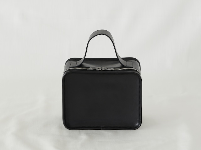 【LIMITED】Leather Mini Book Bag / Silver zip