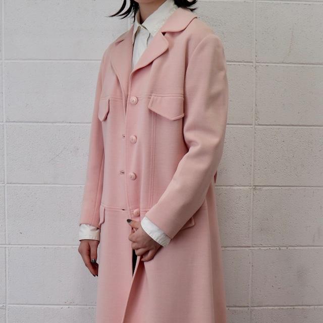 """60年代 USA製 ヴィンテージ ウールコート レディース アメリカ古着 ライトピンク L 60's Usa  Vintage """"Butter Knit"""" Wool Coat"""