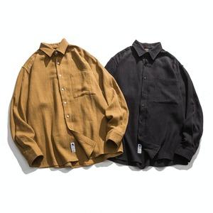 【UNISEX】ボタンダウン シンプル フランネルシャツ【2colors】