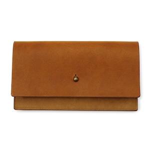 forme Long wallet Liscio camel
