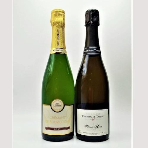 【送料無料】シャンパン&クレマン 2本セット【冷蔵便】の商品画像2