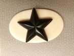星★ナンタケットバスケット用★カービング黒の星