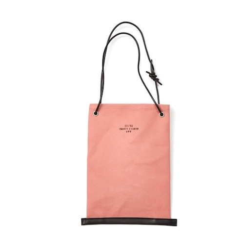 20/80(CANVAS #6 DRAWSTRING BAG WITH LEATHER STRAP)