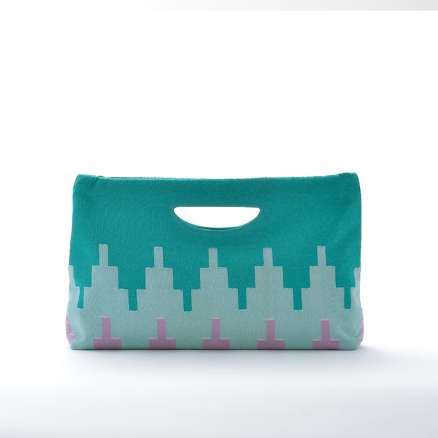 手織りペンシルバッグ ライトグリーン(新商品)