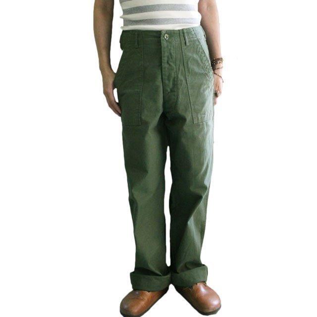 ARAN (アラン) FATIGUE PANTS ファティーグパンツ ユニセックスベイカーパンツ -GREEN-