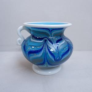 青いマーブルな花瓶