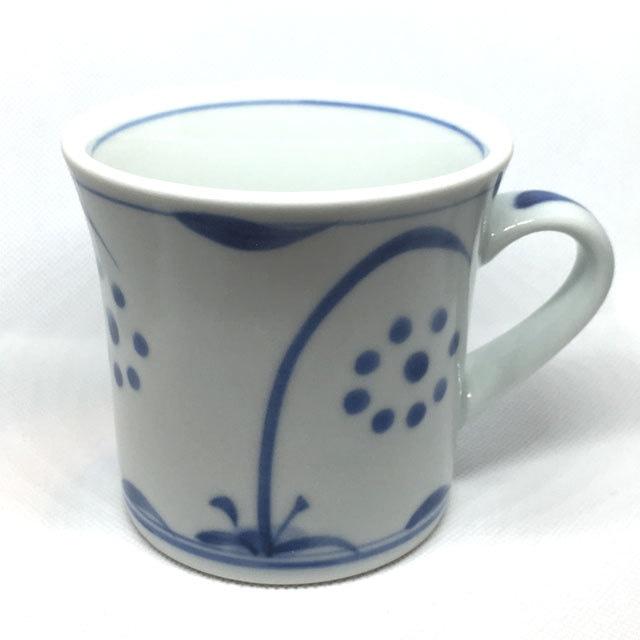 【砥部焼/梅山窯】マグカップ・反り(たんぽぽ)