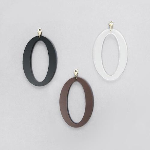 アクリル/片耳用幾何学ピアスイヤリング/取り付けパーツ/E-6_P_E
