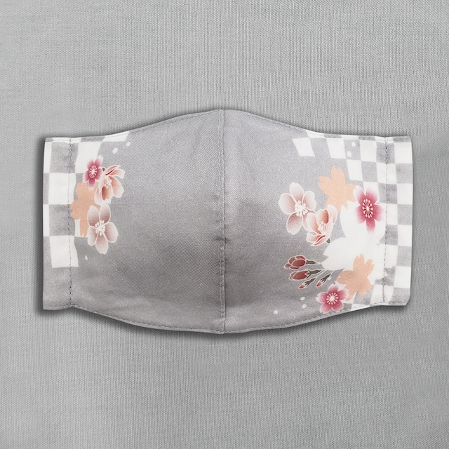 デザイナーズ マスク|市松に桜